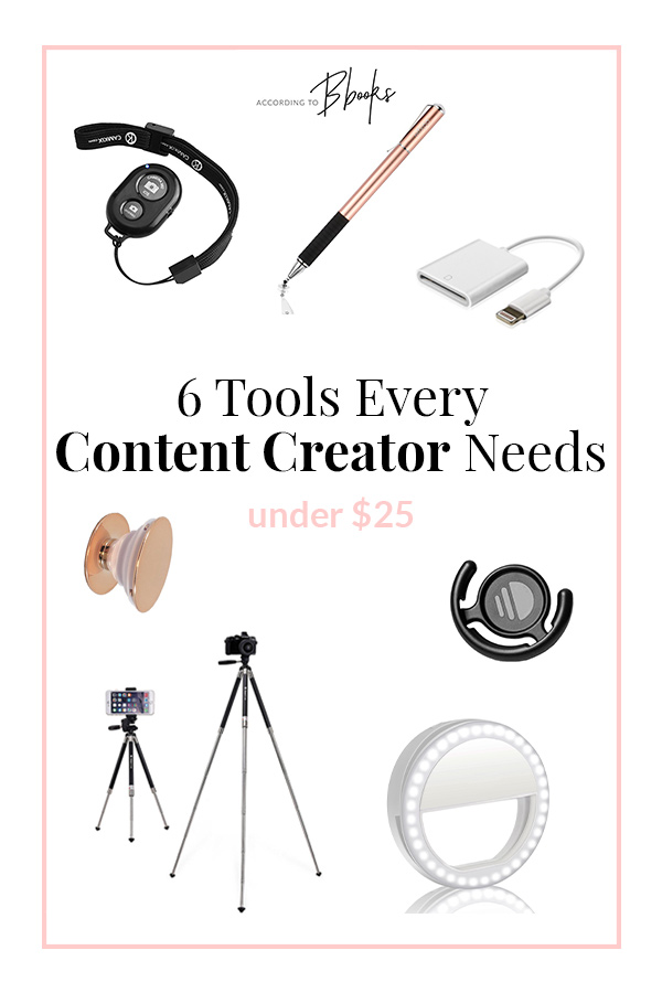 In 2018 there are SO many ways to create content that is is over-whelming. I put together my favorite tools to help create better content for blogs and videos like tripods, lighting, and more under $25!